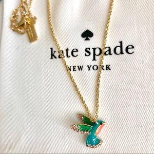 Kate Spade Enamel Hummingbird Necklace